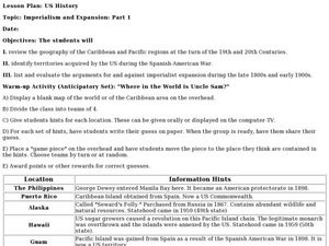 Imperialism and Expansion: Part 1 Lesson Plan