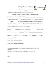 Worksheets Force And Motion Worksheets 5th Grade bill nye force and motion 5th 9th grade worksheet lesson planet worksheet