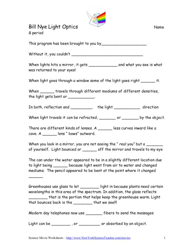 Bill Nye Plants Questions Lesson Plans Worksheets. Bill Nye Light Optics. Worksheet. Bill Nye Plants Video Worksheet At Clickcart.co