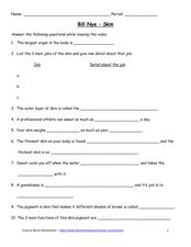 bill nye skin worksheet for 4th 6th grade lesson planet. Black Bedroom Furniture Sets. Home Design Ideas