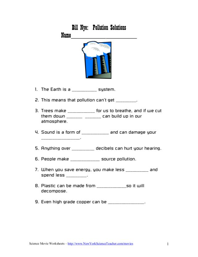 Water Pollution Worksheet Ukrobstep – Water Pollution Worksheet