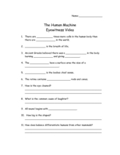eyewitness video the human machine worksheet for 4th 6th grade lesson planet. Black Bedroom Furniture Sets. Home Design Ideas