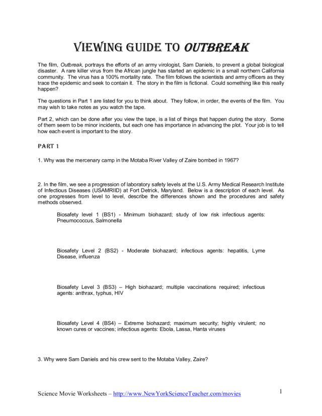 Science Movie Worksheet carolinabeachsurfreport – Movie Analysis Worksheet