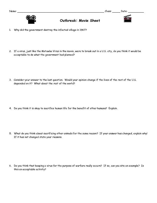 Contagion Video Worksheet - Google Docs