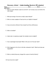 Understanding Bacteria Worksheet for 4th - 10th Grade | Lesson Planet