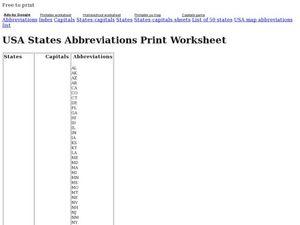 Abbreviations worksheets 4th grade
