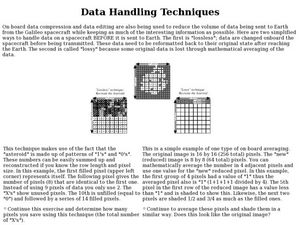 Data Handling Techniques Lesson Plan