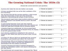 The Growing National Crisis: The 1850s (5) Interactive