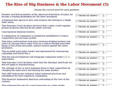 The Rise of Big Business & the Labor Movement (5) Interactive