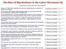 The Rise of Big Business & the Labor Movement (6) Interactive