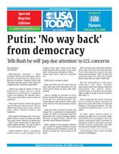 Putin: 'No way back' from democracy Lesson Plan