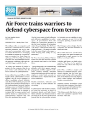 Air Force Trains Warriors to Defend Cyberspace from Terror Worksheet