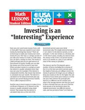 "Data Analysis:  Investing is an ""Interesting"" Experience Lesson Plan"