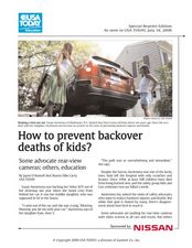 How to Prevent Backover Deaths of Kids? Lesson Plan