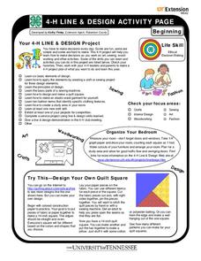 4-H Line & Design Activity Page Worksheet