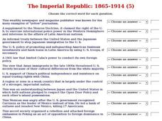 The Imperial Republic: 1865-1914 (5) Interactive
