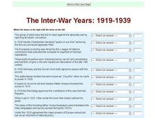 The Inter-War Years: 1919-1939 Interactive