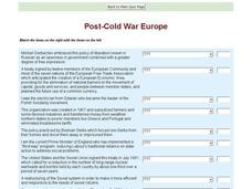 Post-Cold War Europe Interactive