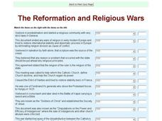 The Reformation and Religious Wars Interactive