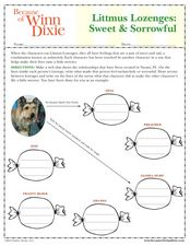 Worksheet Because Of Winn Dixie Worksheets litmus lozenges sweet and sorrowful because of winn dixie 4th worksheet