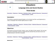 Disasters Lesson Plan