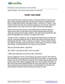 Harry and Annie Worksheet