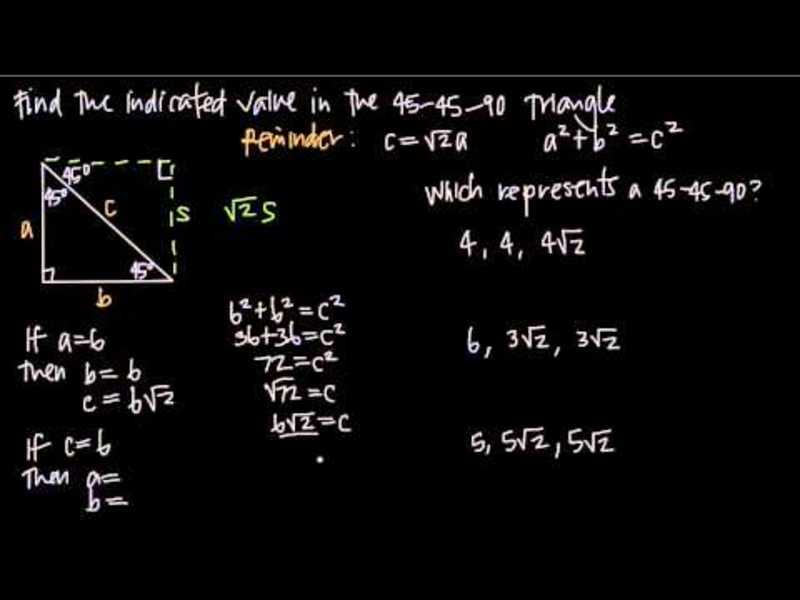 45-45-90 Triangles Video