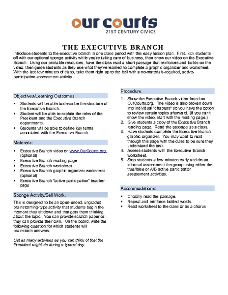 iCivics: Executive Command Lesson Plan for 6th - 12th Grade | Lesson ...