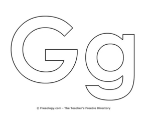 Letter G Coloring Sheet Lesson Plan