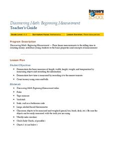 Discovering Math: Beginning Measurement Lesson Plan