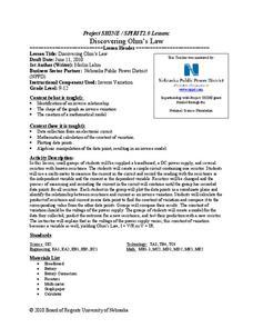 Ohm S Law Lesson Plans Amp Worksheets Lesson Planet