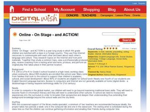 Online —On Stage—and Action Lesson Plan