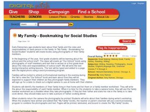 My Family - Bookmaking for Social Studies Lesson Plan