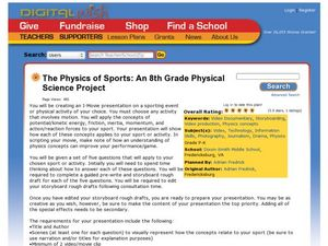 The Physics of Sports: An 8th Grade Physical Science Project Activities & Project