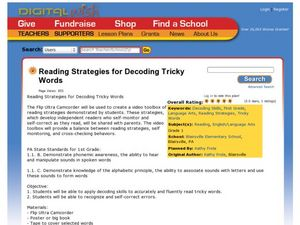 Reading Strategies for Decoding Tricky Words Lesson Plan