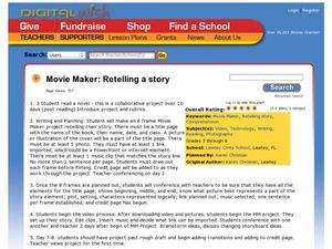 Movie Maker: Retelling a Story Lesson Plan