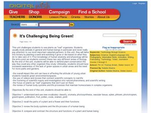 It's Challenging Being Green! Lesson Plan