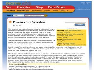Postcards from Somewhere Lesson Plan