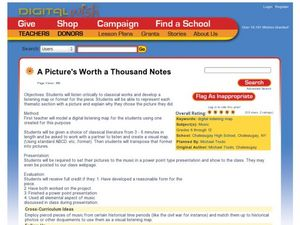 A Picture's Worth a Thousand Notes Lesson Plan