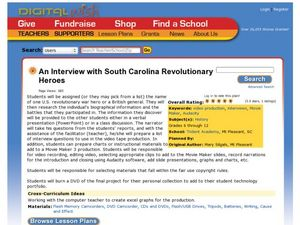 An Interview with South Carolina Revolutionary Heroes Lesson Plan