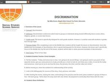 DISCRIMINATION Lesson Plan
