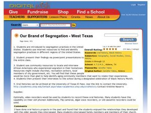 Our Brand of Segregation - West Texas Lesson Plan