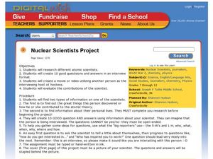Nuclear Scientists Project Lesson Plan
