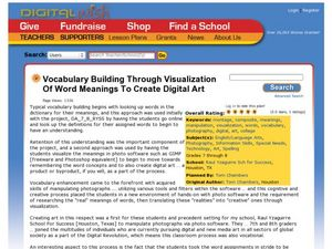 Vocabulary Building Through Visualization of Word Meanings to Create Digital Art Lesson Plan