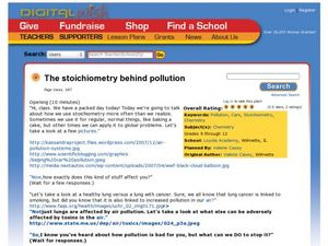 The Stoichiometry Behind Pollution Lesson Plan