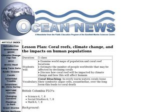 Coral Reefs, Climate Change, and the Impacts on Human Populations Lesson Plan