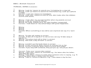 phrasal verbs lesson plan pdf