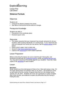 Distance Formula Lesson Plan