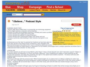 """I Believe..."" Podcast Style Lesson Plan"