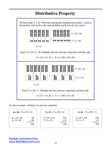 Distributive Property Lesson Plan